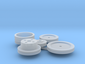 Stock Engine Pulleys 1/12 in Smooth Fine Detail Plastic