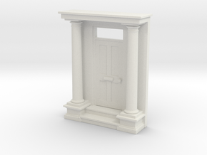 Entrance Portico 1:76mm scale in White Natural Versatile Plastic