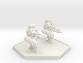 UWN Army Devistator Suit Team in White Natural Versatile Plastic