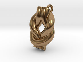 Knot Of Hercules Earring in Natural Brass
