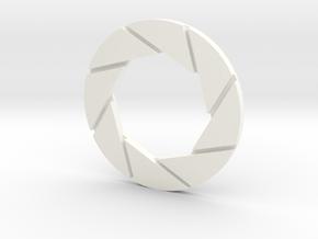 Aperture Logo 5in Thin in White Processed Versatile Plastic