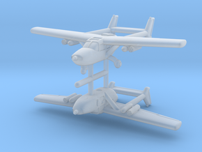 1/285 Cessna O-2 (x2) in Smooth Fine Detail Plastic