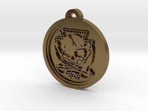 Custom Pendant 2 in Natural Bronze