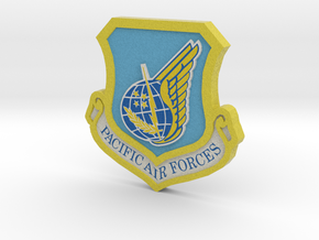 PAF 3d Logo  in Full Color Sandstone
