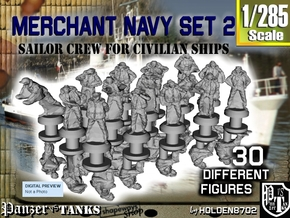 1-285 Merchant Navy Crew Set 2 in Smoothest Fine Detail Plastic