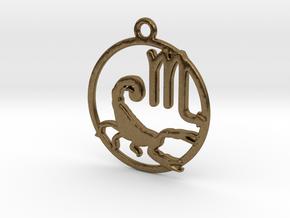Scorpio Zodiac Pendant in Natural Bronze