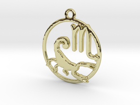 Scorpio Zodiac Pendant in 18k Gold Plated Brass