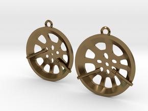 """Double Seconds """"essence"""" steelpan earrings, S in Polished Bronze"""