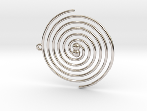 Inspiral in Rhodium Plated Brass
