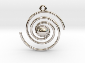 Spiral Galaxy in Rhodium Plated