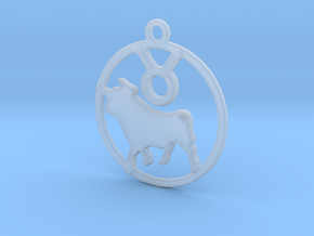 Taurus Zodiac Pendant in Smooth Fine Detail Plastic