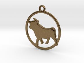 Taurus Pendant in Natural Bronze