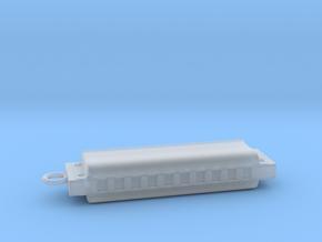 Harmonica Pendant - Plastic - Custom text in Smooth Fine Detail Plastic