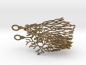 Purkinje Neuron Cell Earrings in Natural Bronze