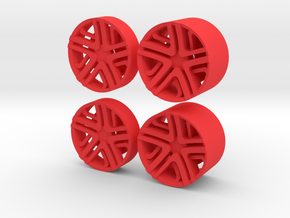 LC Rims - Inserts for Slot Car rims in Red Processed Versatile Plastic