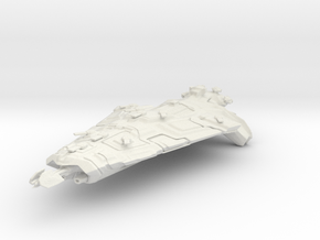 Indomitable Class Dreadnought in White Strong & Flexible