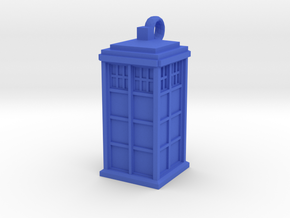 TARDIS key fob in Blue Processed Versatile Plastic