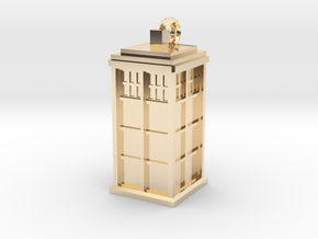 TARDIS key fob in 14K Yellow Gold