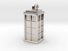 TARDIS key fob in Platinum