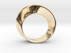 Mobius Strip Ring (Size 6) in 14K Yellow Gold: 6 / 51.5