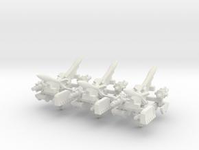 6mm Vehicle Artillery Weapons (24pcs) in White Natural Versatile Plastic