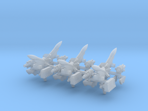 6mm Vehicle Artillery Weapons (24pcs) in Smooth Fine Detail Plastic