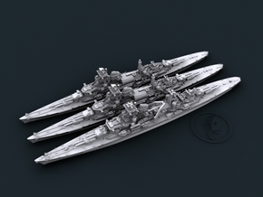 1/4800 WW2 German Navy 8in Heavy Cruisers in Smooth Fine Detail Plastic