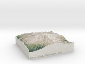 Glacier Peak, Washington, USA, 1:100000 in Full Color Sandstone