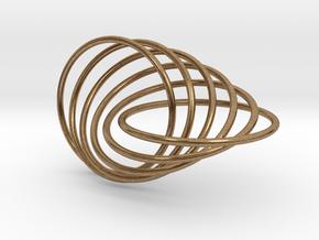 6-Ring Roller Ring in Interlocking Raw Brass
