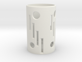 60 mm Candle Holder. in White Natural Versatile Plastic: Medium