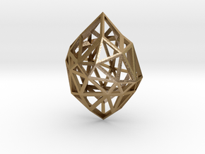Pendant Diamond Rough in Polished Gold Steel