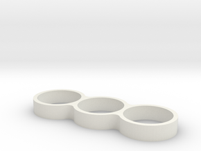 Triple Ring Bearing Spinner in White Natural Versatile Plastic