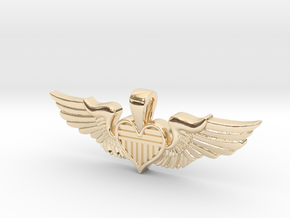 The Original Sweetheart Wing in 14k Gold Plated Brass