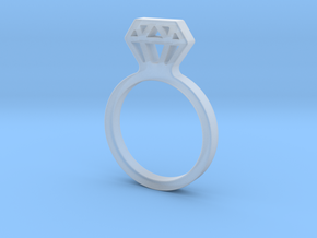 Diamond ring Ginetta in Smooth Fine Detail Plastic: Medium