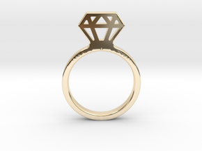Diamond ring Ginetta in 14K Yellow Gold: Small