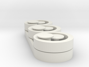 2 Spinners w/ Bearing Buttons in White Strong & Flexible