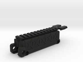 Rail Riser Storage with Bubble Level in Black Strong & Flexible