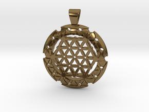 XL Flower Of Life-Fleur de vie in Polished Bronze