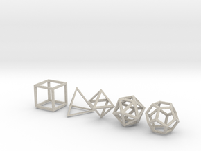 Platonic Solids in Natural Sandstone