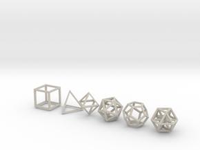 Metatronic Solids in Natural Sandstone