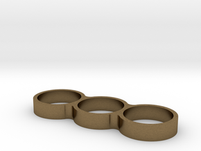 Triple Ring Bearing Spinner in Natural Bronze