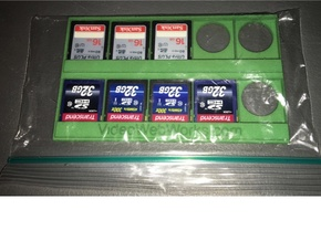 10 SD Cards on a 3x5 Index Card Holder in Green Strong & Flexible Polished