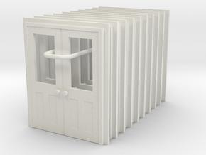 Door Type 11 X 10 HO Scale in White Natural Versatile Plastic