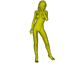1/15 scale nose-art striptease dancer figure C in Smooth Fine Detail Plastic