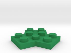 Trilego-flat-2x2 in Green Processed Versatile Plastic