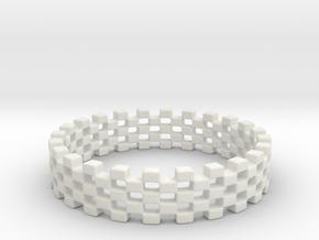 Continum Ring (US Size-5)  in White Natural Versatile Plastic: 5 / 49