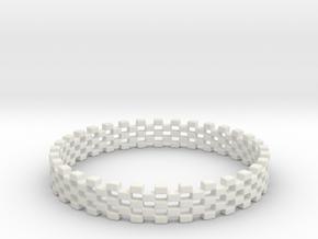 Continum Ring (Size-14) in White Natural Versatile Plastic