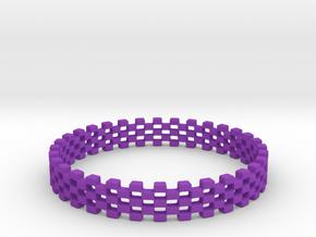 Continum Ring (Size-14) in Purple Processed Versatile Plastic