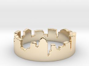 Columbus Night Ohio Ring (Size-5) in 14k Gold Plated Brass: 5 / 49