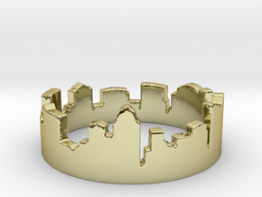 Columbus Night Ohio Ring Size 4 in 18k Gold Plated Brass: 4 / 46.5